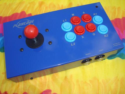 Playcade arcoíris inalámbrico, joystick arcade ps2 ps3 pc