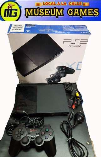 Playstation 2 ps2 matrix + caja+ 36 juegos + memory + gtia