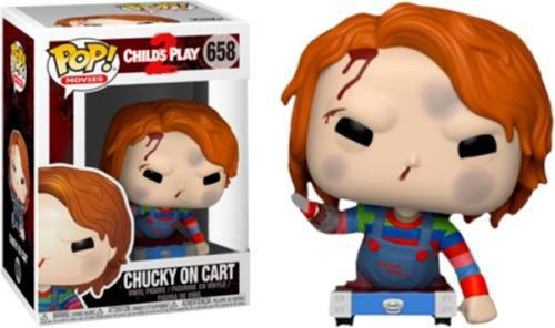 Pop funko child's play 2 chucky on cart hot topic exclusive