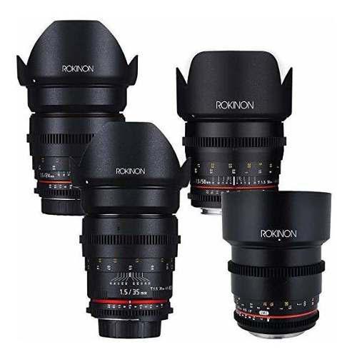 Rokinon cine ds cinema lente kit 50mm, 35mm, 85mm, 24mm ©