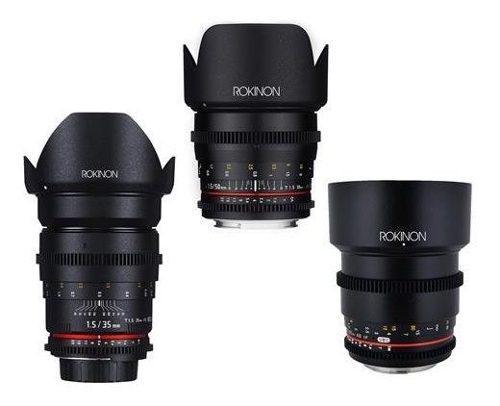 Rokinon cine ds portrait lente bundle 35mm t1.5 50mm t1.5 ®