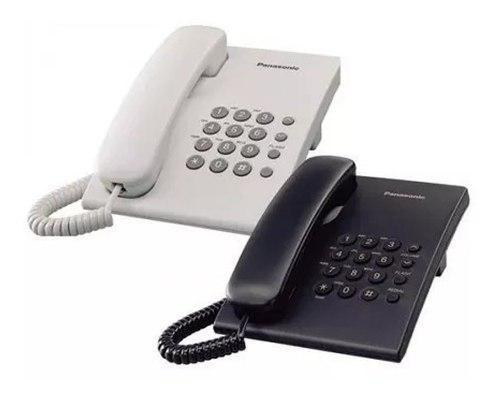 Teléfono panasonic kx ts 500 negro fijo