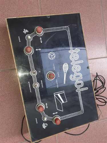 Vieja consola de videojuegos telegol retro vintage