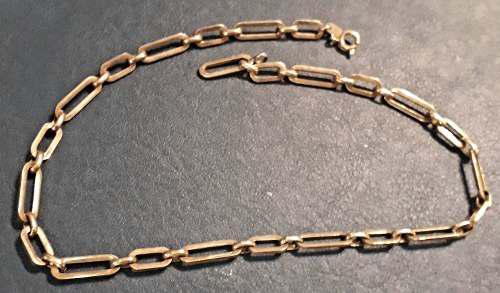 Antigua cadena filled oro 40 cm para reloj de bolsillo