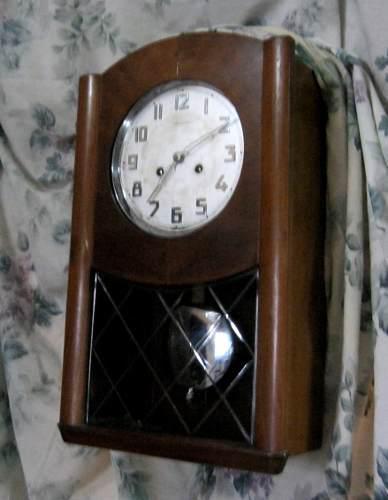 Antiguo reloj de pared a pendulo art deco funciona liquido!