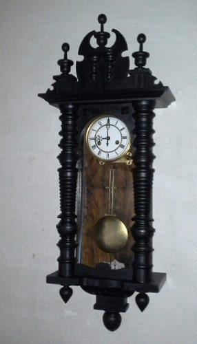 Antiguo reloj de pared a pendulo gustav becker 1908