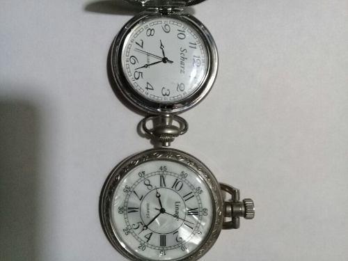 Dos relojes tipo antiguos a pila precio c/u b.estado funcion