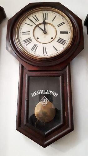 Reloj antiguo de pared ansonia regulator a