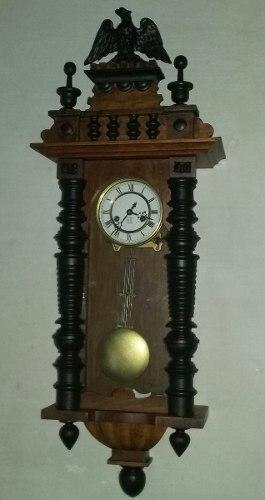 Reloj de pared gustav becker a pendulo años 1908 aleman