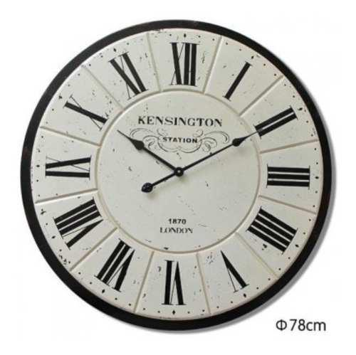 Reloj grande en madera industrial antiguo - envio gratis!