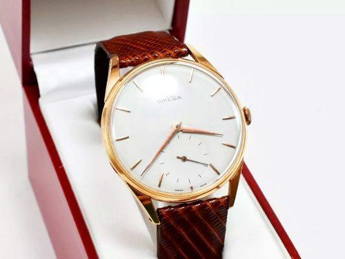 Reloj omega hombre oro 18k macizo antiguo para regalo 37 mm