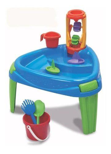 Mesa juegos de agua arena rondi play table playera juguete