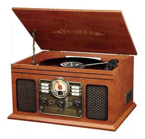 Tocadisco victrola radio fm/am cd cassete bluetooth