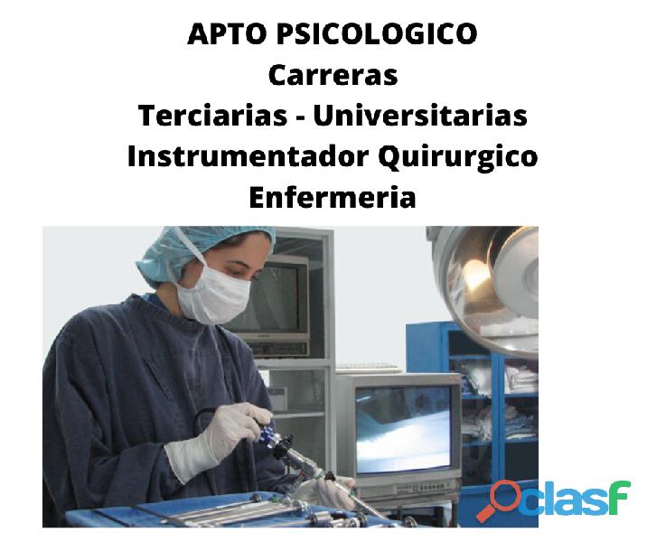 Apto psicologico certificado psicologa ramos mejia