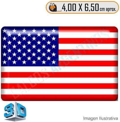 Calcomanias 3d, Accesorio Autos Bandera Estados Unidos