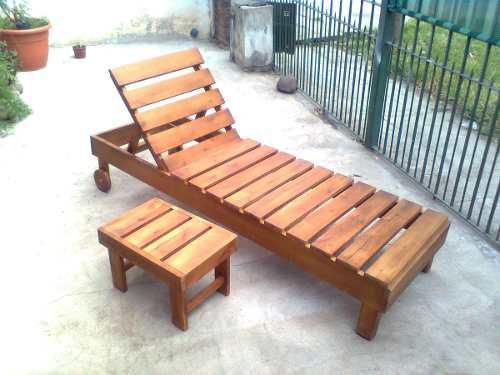 Camastros reposera de madera (consultar regalo mesita)