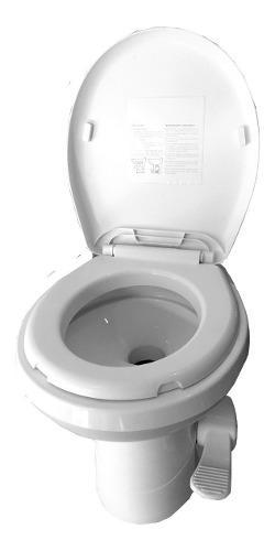 Inodoro Gravity Flush, Casa Rodante, Fijo A Pedal, Nautico
