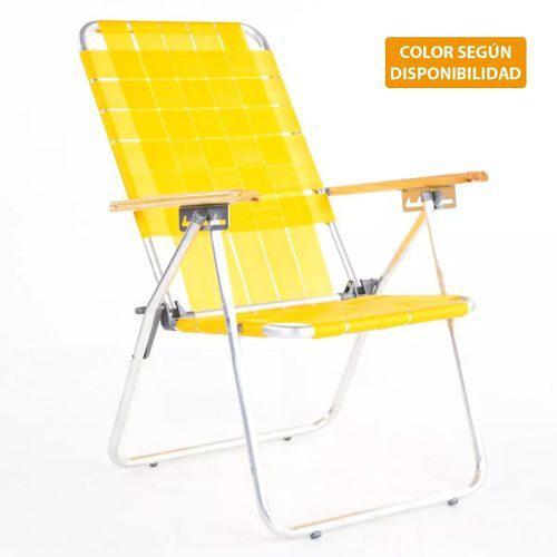Reposera aluminio descansar 80001 5 posiciones sillon