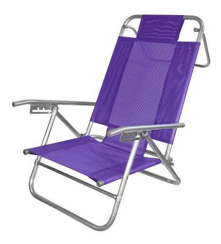 Reposera baja playa playera camping 5 posiciones aluminio