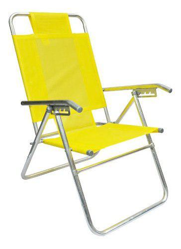 Reposera silla aluminio 5 posiciones coversol caño 1