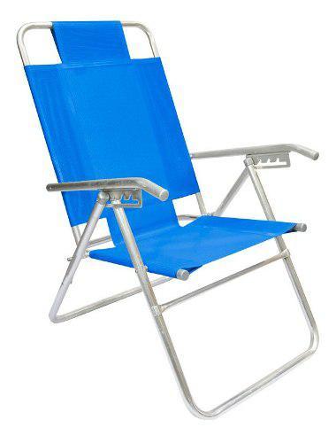 Reposera silla aluminio descansar 5 pos coversol caño