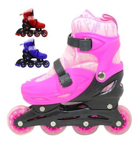 Rollers extensibles abec7 infantil nena nene + bolso bota