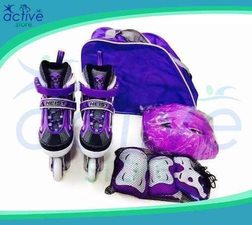Rollers profesionales extensibles + set protecciones + bolso