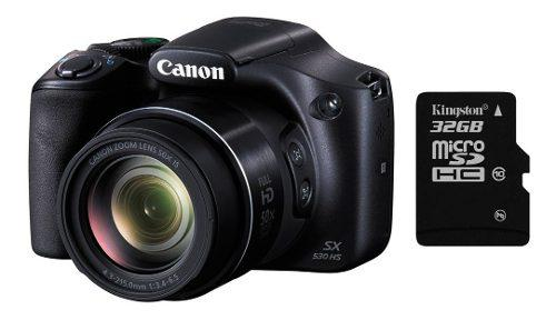 Camara Canon Sx530 16mp 50x Full Hd Wifi Nfc + 32gb Mexx
