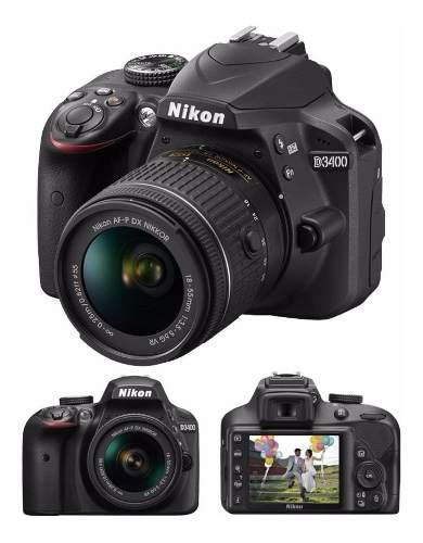 Nikon D3400 New 2020 Kit 18-55+bolso+memoria 64gb Gartia.