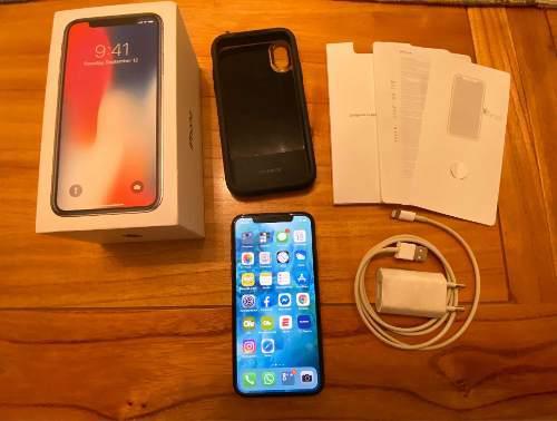 Iphone x 256gb space gray en excelente estado 89% bateria