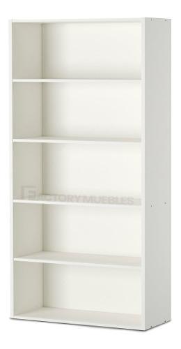 Biblioteca de melamina 5 estantes 180x60 muebles oficina