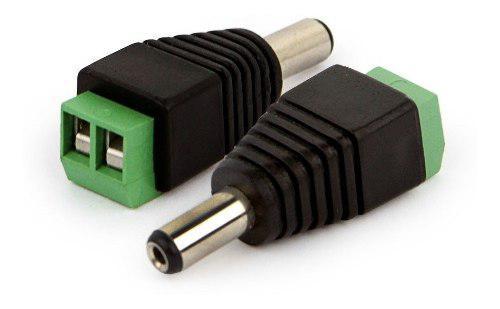 Conector Ficha Plug Macho Alimentacion Dc Camara Led X 2
