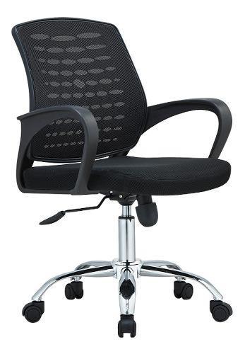 Sillon escritorio pc basculante reforzada nueva! negro j818b
