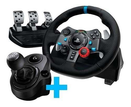 Volante logitech g29 gamer + pedalera + palanca ps3 ps4 pc