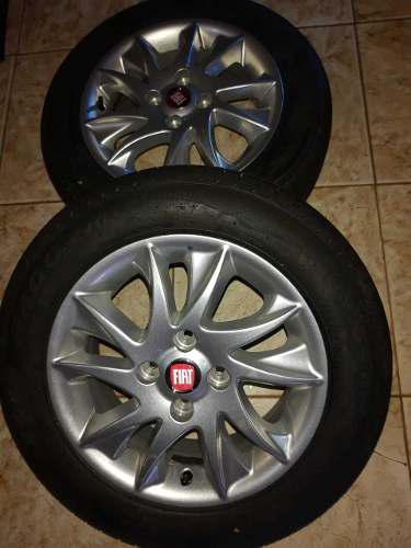 2 llantas de aleación con cubiertas pirelli 175 / 65 r14