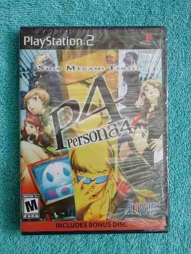 Juegos Ps2 Shin Megami Tensei Persona 4 Nuevo Con Soundtrack