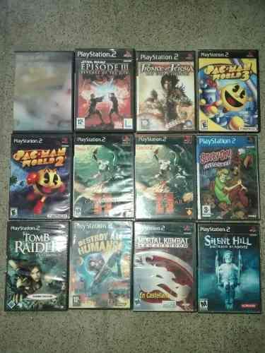 Lote Juegos Ps2 God Of War Tomb Raider Silent Hill Pacman