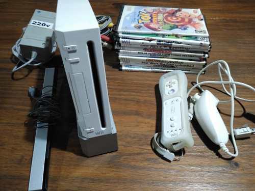 Nintendo Wii Chipeada + Wii Mote Y Nunchuck, Con Juegos.