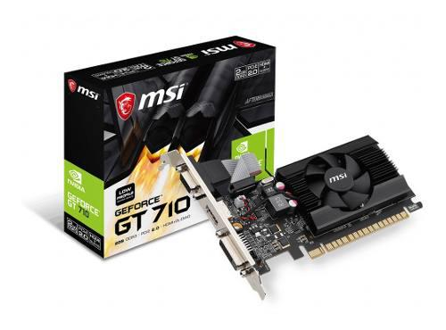 Placa Video Geforce Msi Gt 710 2gb Ddr3 Bajo Perfil