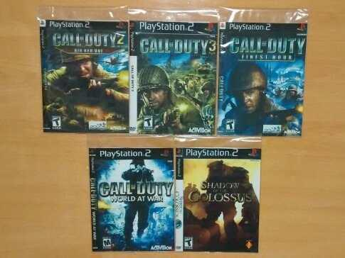 Set x5 juegos ps2 playstation 2