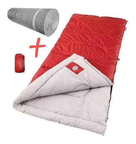Bolsa De Dormir + Aislante Térmico + Bolsa Para Transportar