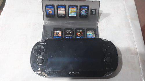 Psp Vita Slim Con 8 Juegos Y Memoria De 4gb Con Poco Uso