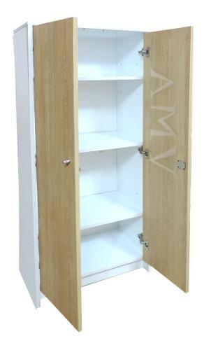 Biblioteca armario c/ cerradura laqueado combinado melamina