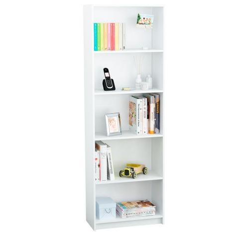 Biblioteca con estantes colores - oficina - todohogar