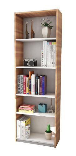 Biblioteca modular apoyo oficina estanteria melamina moderna