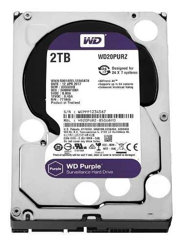 Disco rigido 2tb purple western digital dvr seguridad envio