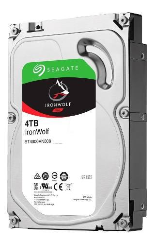 Disco rigido seagate ironwolf 4tb 7200rpm 75mb/s xellers