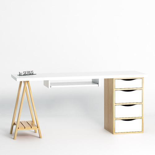 Escritorio escandinavo nordico diseño serus muebles