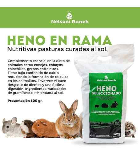 Heno familiar x 500 grs (conejos,cobayos,chinchillas)