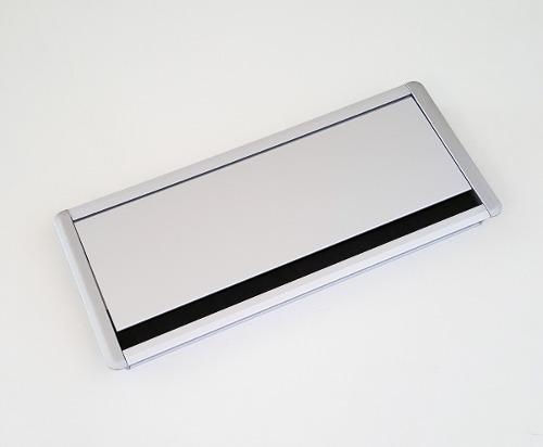 Tapa pasacables rectangular de aluminio anodizado